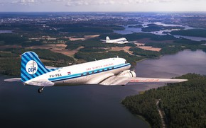 Picture the plane, transport, short-haul, DC-3s