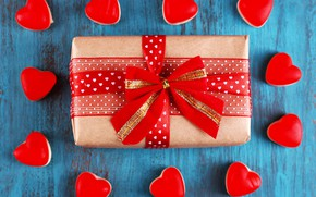 Picture love, gift, heart, hearts, love, heart, wood, romantic, Valentine's Day, gift