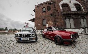 Picture Volkswagen, Cars, Bmw, Golf, E30, Poland
