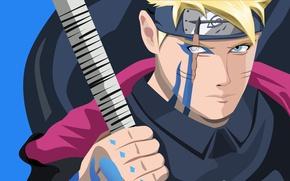 Picture red, sword, Naruto, seal, anime, katana, fight, ken, blade, ninja, asian, manga, shinobi, japanese, oriental, …