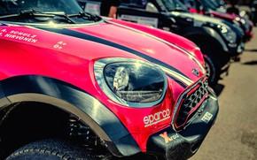 Picture Auto, Mini, Headlight, Machine, Race, The hood, Rally, Dakar, Dakar, SUV, Rally, X-Raid Team, MINI ...