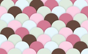 Picture background, pink, texture, brown, scallops
