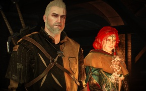 Picture Triss Merigold, Geralt of Rivia, The Witcher 3 Wild Hunt, The Witcher 3, CD project
