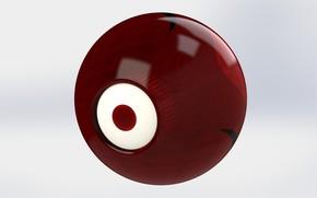 Picture red, minimalism, minimalism Wallpaper