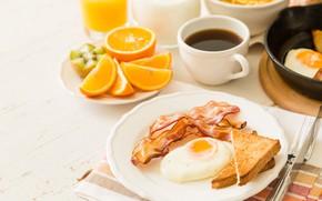 Picture coffee, food, Breakfast, juice, breakfast