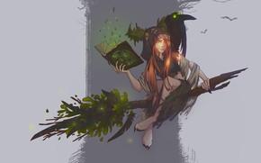 Picture fantasy, magic, art, book, witch, broom, pomelo, Concept art - Witch, Elena Darvina