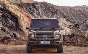 Picture Mercedes-Benz, is, brown, 2018, G-Class, quarry