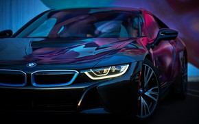 Picture machine, color, view, BMW i8