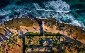 Picture sea, shore, lighthouse, Brazil, Salvador, Baja