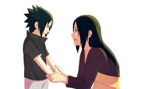 Picture anime, art, Naruto, Sasuke Uchiha