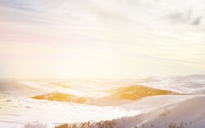 Picture landscape, sunset, snow, sun, freeze, snowland, beautifful landscape