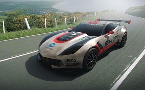 Picture track, car, C7R
