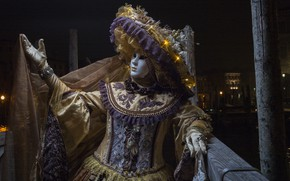 Picture Venice, carnival, night, mask, hat
