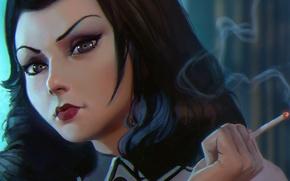 Picture girl, face, bioshock, art, dlc, Elizabeth, Burial at Sea, BioShock Infinite: Burial at Sea