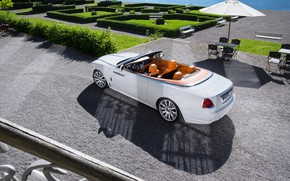 Picture auto, white, the sun, Rolls-Royce, convertible