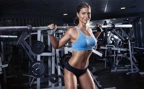 Wallpaper smile, look, workout, gym, fitness