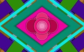 Picture circles, layers, diamonds