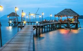 Picture sea, tropics, vacation, the bridge