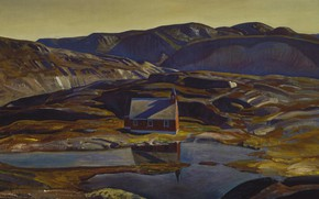 Picture landscape, picture, Rockwell Kent, Rockwell Kent, Summer. Greenland