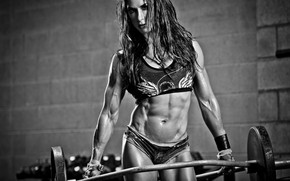 Picture girl, power, muscles, abs