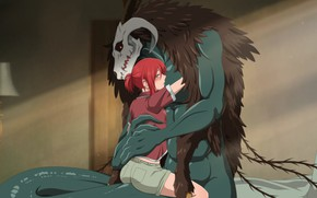 Picture girl, being, fascinator, Mahou Tsukai no Yome, The Ancient Magus' Bride, Elias Ainsworth, Hatori Chise