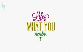 Picture motivation, quote, make