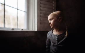 Wallpaper window, mood, house, girl