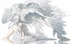 Picture Girl, Angel, Anime, Halo