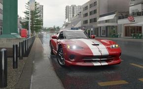 Picture the city, street, Dodge Viper, Forza Horizon 3