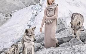 Picture model, brand, Sasha Pivovarova, Sasha Pivovarova, LOOKBOOK, MANGO