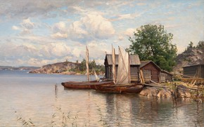 Picture Archipelago, After His Discharge, He Left Russia Items Munsterhielm Almy, a Finnish landscape painter, Finnish …