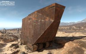 Picture machine, mountains, desert, Star Wars Battlefront