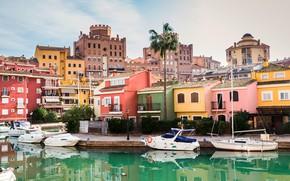 Picture Palma, home, yachts, boats, pier, Spain, Alboraya, Port Bright,