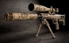 Wallpaper optics, muffler, sniper rifle