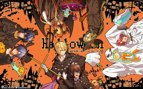 Picture art, guys, Halloween, Wand Of Fortune