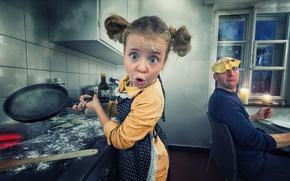 Picture Girl, fun, Pancakes, John Wilhelm, Dad did