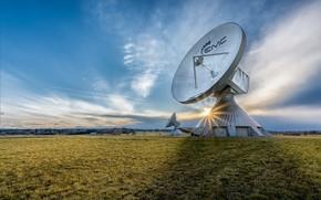 Picture antenna, Germany, Bavaria, Raisting