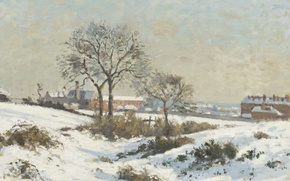 Picture winter, picture, Camille Pissarro, Snowy Landscape at South Norwood