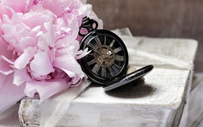 Picture flower, retro, Watch