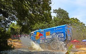 Picture Water, Grass, Trees, Sport, Speed, People, Race, Master, Dirt, Squirt, Russia, Kamaz, Rally, Dakar, Dakar, …