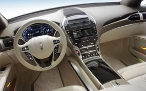 Picture Lincoln, the wheel, dashboard, MKZ