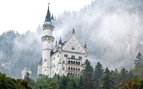 Picture castle, tower, Bayern, Germany, Neuschwanstein