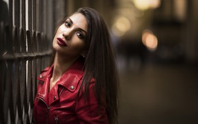 Picture look, face, model, the evening, lipstick, jacket, Daniela