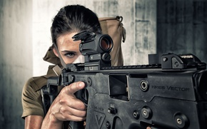 Wallpaper machine, Kriss Vector, girl, face, look