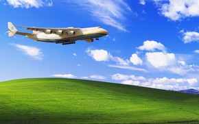 Picture Clouds, The plane, Strip, Windows, Wings, Background, Hill, Dream, Ukraine, Mriya, The an-225, Airlines, Soviet, ...