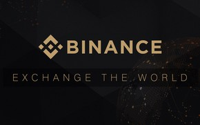 Picture logo, black, fon, exchange, exchange, Binance