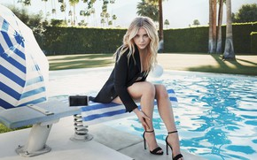 Picture Blonde, Pool, Shoes, Actress, Chloë Moretz, blonde, Chloe Grace Moretz, Chloë Grace Moretz, Actress, Photoshoot, …