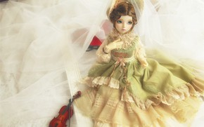 Picture doll, dress, lady