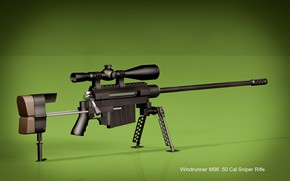 Picture green, gun, weapon, sniper, rifle, .50, M96 Windrunner M96, Windrunner M96 Sniper Rifle, M96