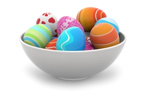 Picture colorful, Easter, spring, Easter, eggs